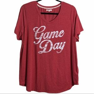 Maurices Game Day Tee Sz 0
